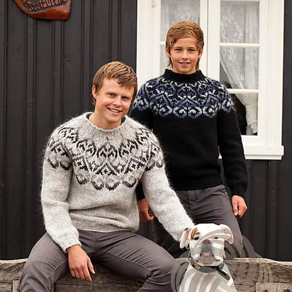 Garn-Kit Islandströja Sjón Svart-Blå