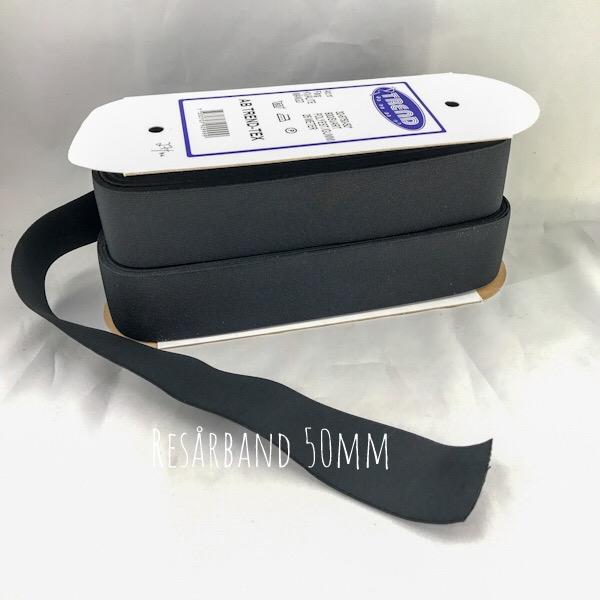 Resårband svart 50mm