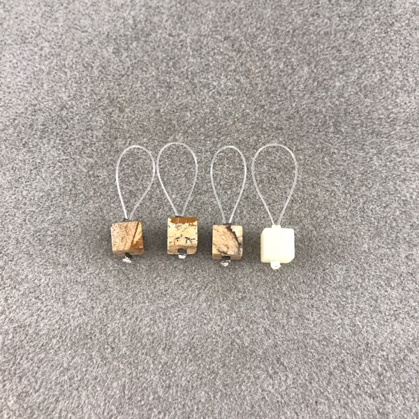 Maskmarkörer Kaki Design marmor fyrkant 1 rund