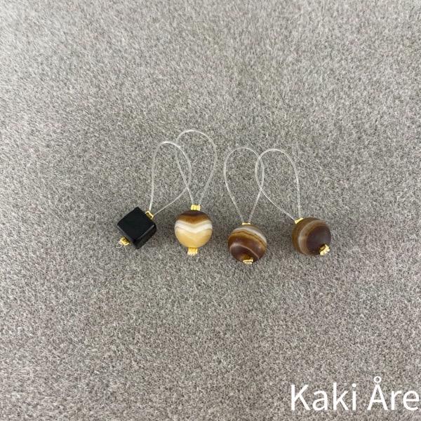 Maskmarkörer Kaki Design bruna rund 1 fyrkant