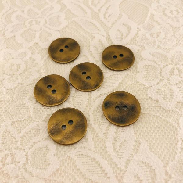 Knapp metall guld 20mm