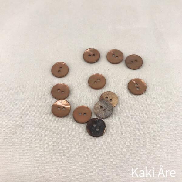Knapp pärlemor 13mm beigebrun