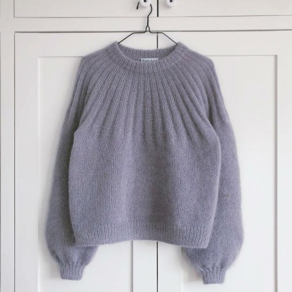 PetiteKnit Mönster Sunday Sweater- Mohair Edition