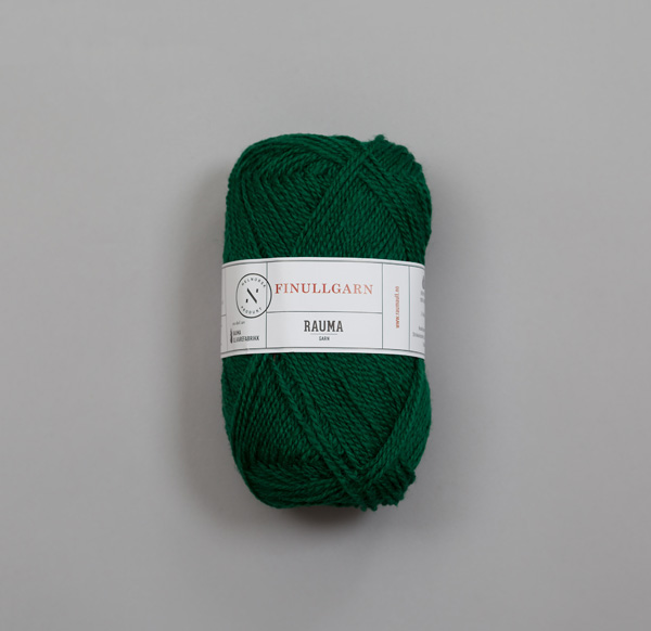 Rauma Finullgarn 0494 mörk grön