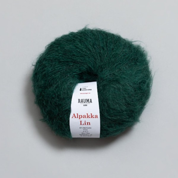 Alpakka Lin 2385 smaragdgrön