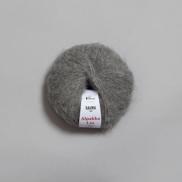 Alpakka Lin 6559 grå