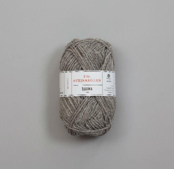 Rauma 3-tråd Strikkegarn 104 grå