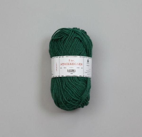 Rauma 3-tråd Strikkegarn 132 grön