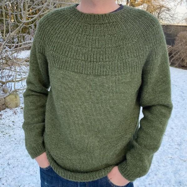 PetiteKnit Mönster Ankers tröja my boyfriends size