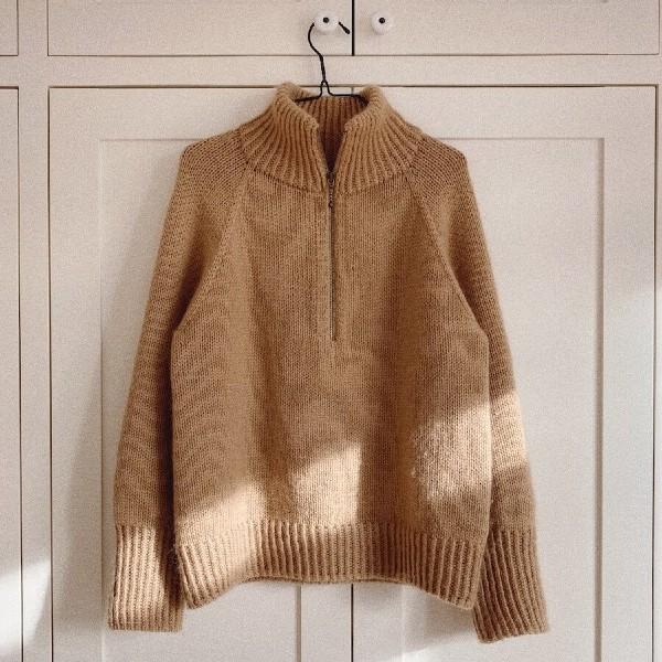 PetiteKnit Mönster Zipper Sweater