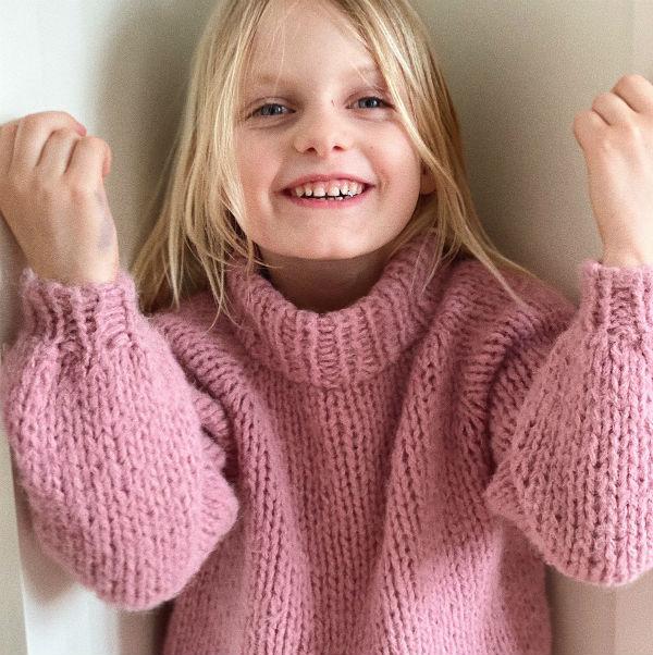 PetiteKnit Mönster Louisiana Sweater Junior
