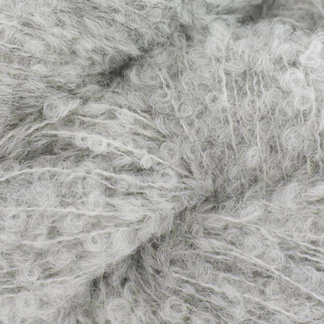 Kremke Alpaka Bouclé 0025 ljusgrå