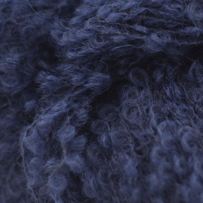 Kremke Alpaka Bouclé B426 marinblå