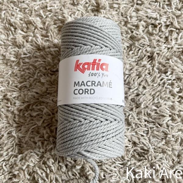Macramé Cord 102 ljusgrå