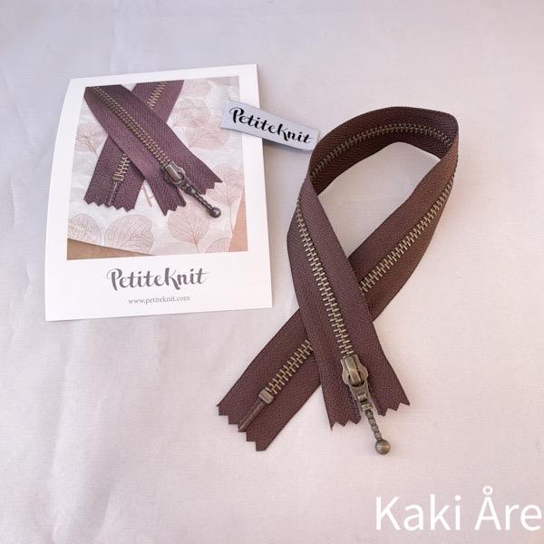 Blixtlås Zipper chokladbrun
