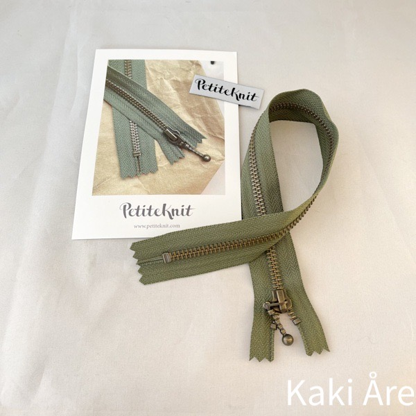 Blixtlås Zipper jägargrön