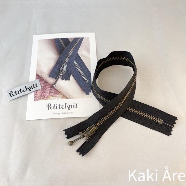 Blixtlås Zipper svart