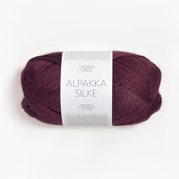 Alpakka Silke 4372 djup burgunder