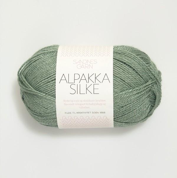 Alpakka Silke 7741 dammig grön