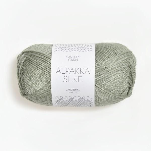 Alpakka Silke 8521 dammig ljusgrön