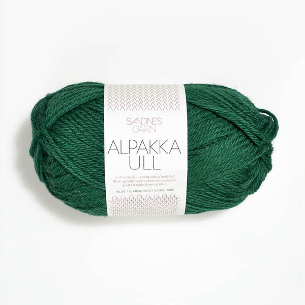 Alpakka Ull 7755 smargadgrön