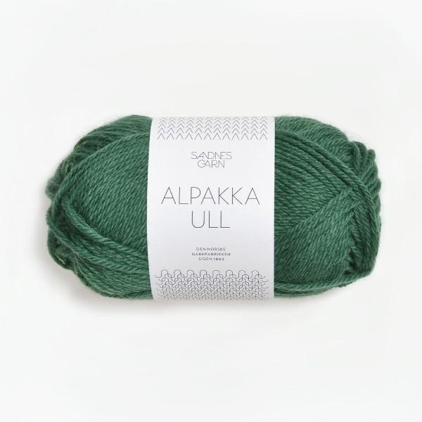 Alpakka Ull 8063 mörk grön