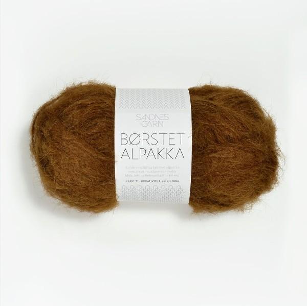 Borstad Alpakka 2564 gyllenbrun