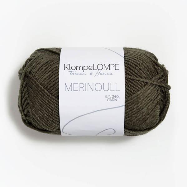 Merinoull 9871 mörk oliv