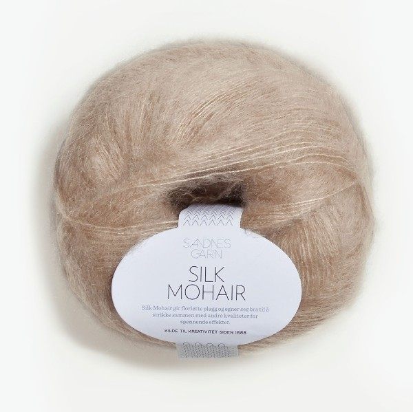 Silk Mohair 3021 ljus beige