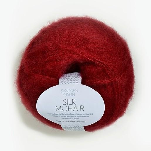 Silk Mohair 4236 djup röd