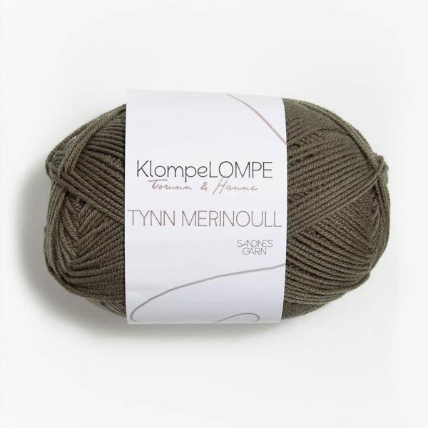 Tynn Merinoull 9851 ljus oliv