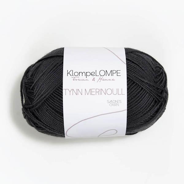 Tynn Merinoull 5885 dämpad svart
