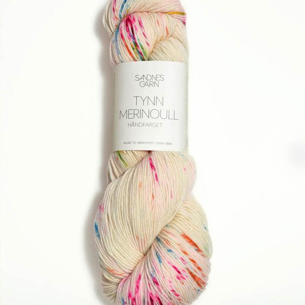 Tynn Merinoull 1010 handfärgad, vanilj