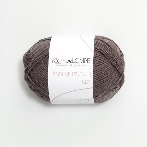 Tynn Merinoull 2652 gråbrun