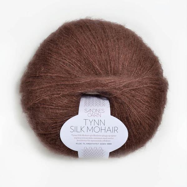 Tynn Silk Mohair 4062 støvet brun