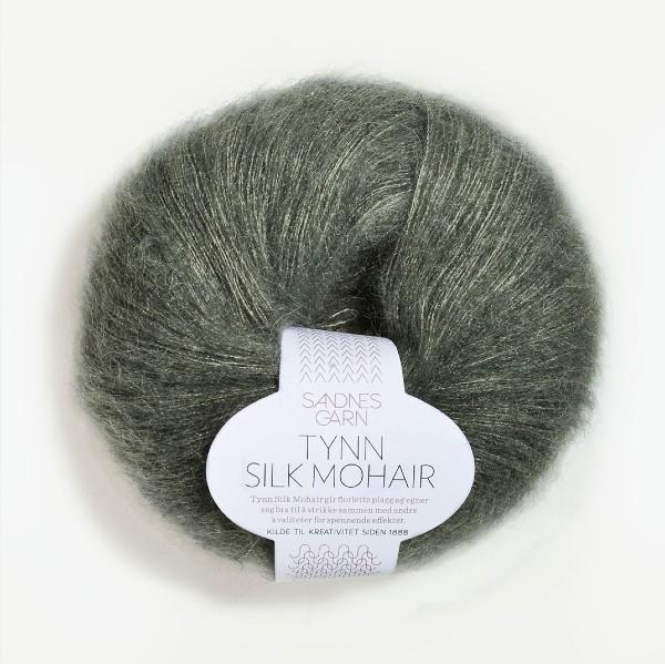 Tynn Silk Mohair 9071 stövet olivgrön