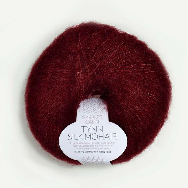 Tynn Silk Mohair 4054 mörk vinröd