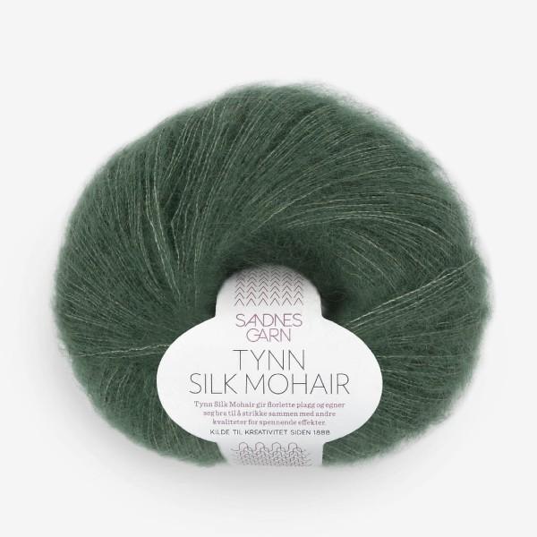 Tynn Silk Mohair 8581 djup skogsgrön
