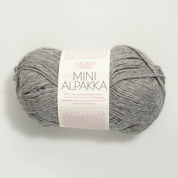 Mini Alpakka 1042 gråmelert