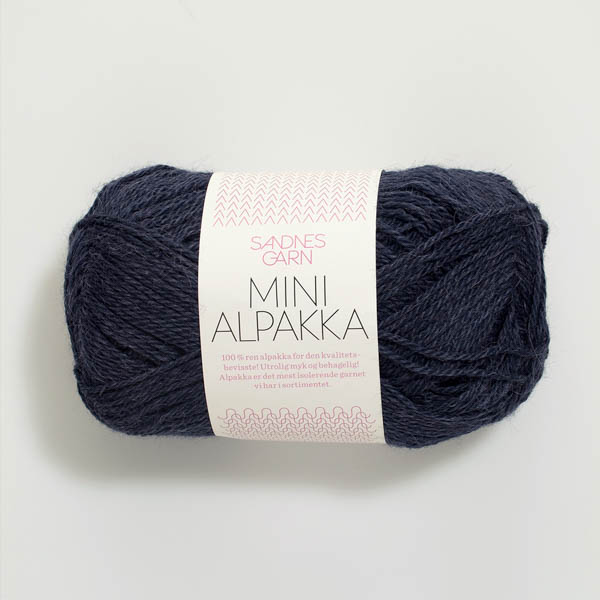 Mini Alpakka 6081 dyp blå