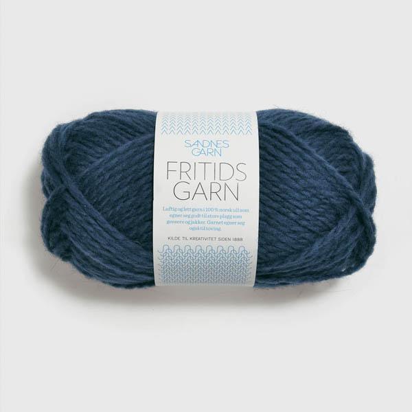 Fritidsgarn 6072 mörk jeansblå