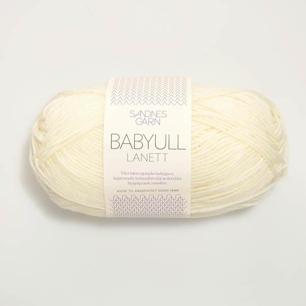 Babyull Lanett 1012 naturvit