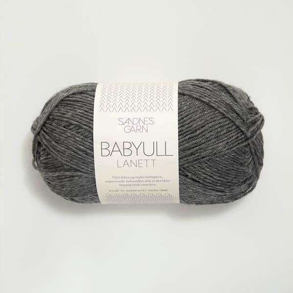 Babyull Lanett 1053 mörk gråmelerad