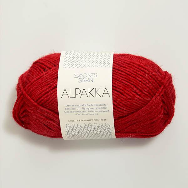 Alpakka 4219 djup röd