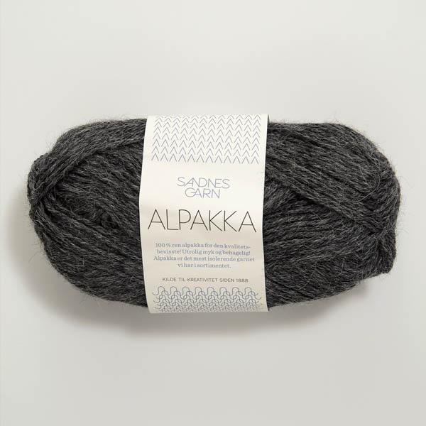 Alpakka 1053 mörk gråmelerat