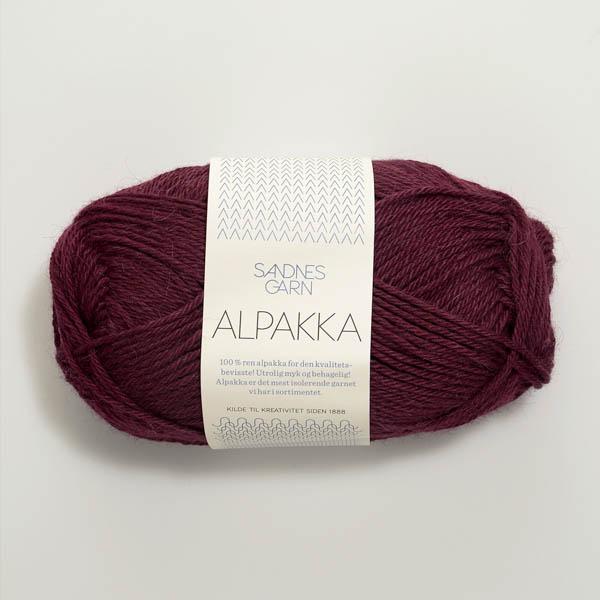 Alpakka 4554 vinröd