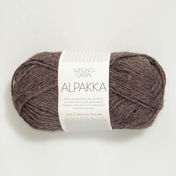 Alpakka 2652 mellanbrun melerat