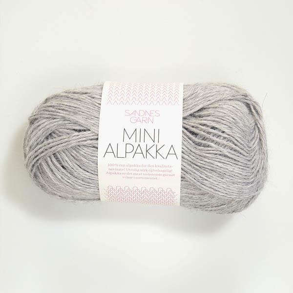Mini Alpakka 1032 ljusgrå melerad