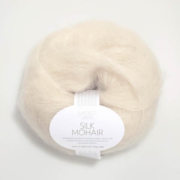 Silk Mohair 1012 naturvit