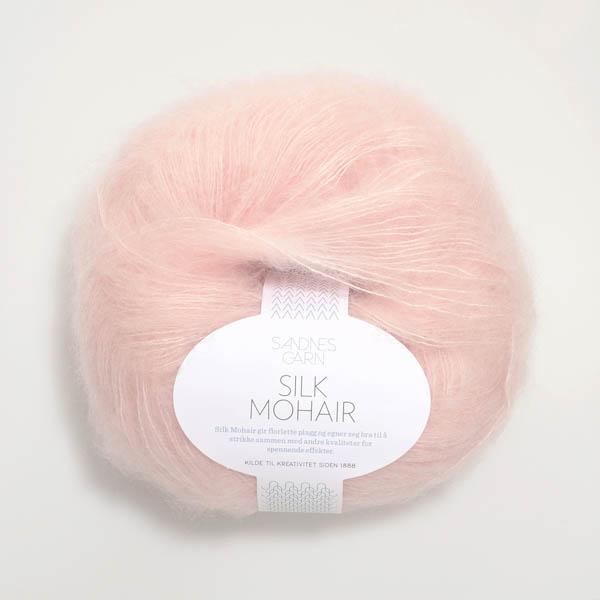 Silk Mohair 3511 pudder rosa